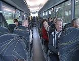 Innere eines Linienbusses