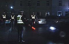 Nächtliche Polizeikontrolle
