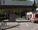 Einfahrt in die Christian-Doppler-Klinik (CDK) in Salzburg