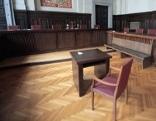 Verhandlungssaal im Landesgericht St. Pölten