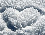 Das Steiermark-Herz im Schnee