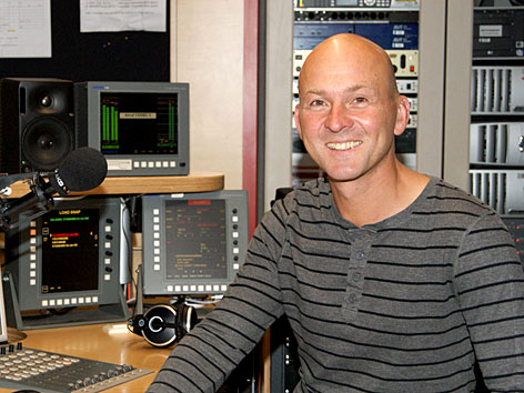 Thomas Arbeiter im Radiostudio