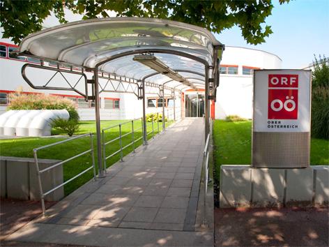 Eingang des ORF Landesstudio Oberösterreich