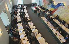 Landtag von der Galerie aus