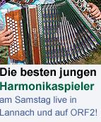 Der 16 steirische Harmonikawettbewerb - am Samstag, 29. Oktober, live in Lannach und auf ORF2!