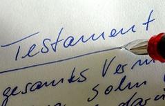 Handgeschriebenes Testament, letzter Wille