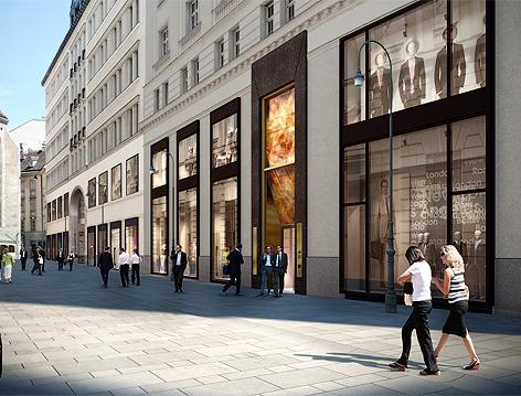 Visualisierung der neuen Fußgängerzone in der Seitzergasse in der Innenstadt