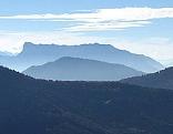 Der Salzburger Untersberg gesehen vom Schober bei Fuschl aus östlicher Richtung.