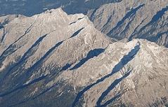 Hochkalter-Massiv von Westen aus 6.000 Metern