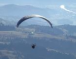 Paragleiter im Flug über Salzachtal