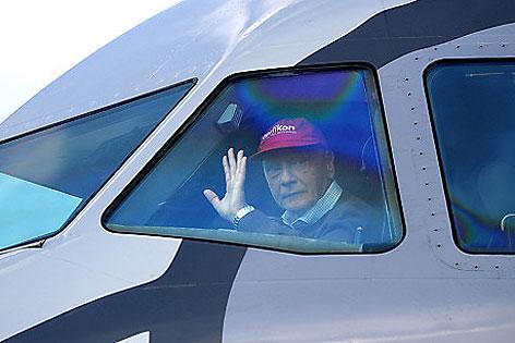 Niki Lauda im Cockpit
