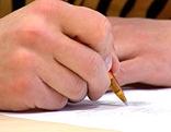 schreiben, hand, schule, vertrag, unterschrift