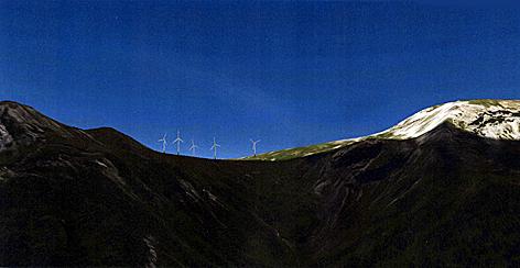 Windkraft - Anlage der Salzburg AG zwischen Ponau und Lungau - PC-Simulation