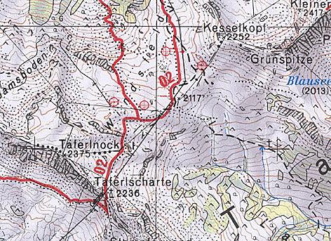 Windkraft - Anlage der Salzburg AG zwischen Ponau und Lungau - PC-Simulation Landkarte