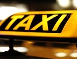 Taxischrift beleuchtet