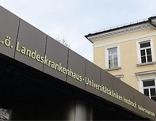 Einfahrt der Klinik Innsbruck