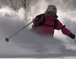 Freerider Skifahren Pulverschnee Schnee Ski