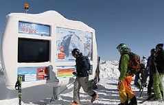 Freerider Skifahren Pulverschnee Schnee Ski Info-Station Sportgastein Kreuzkogel