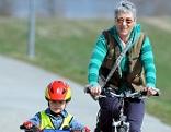 Radfahrer Jung und Alt