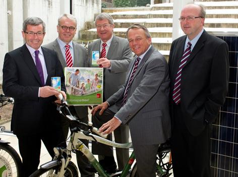 Energieversorger mit LR Anton Steixner und E-Bike