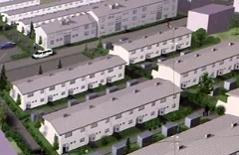 Visualisierung des Gemeindebaues der Mit Solaranlagen versehen werden sioll