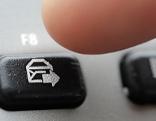 Mail-Zeichen auf der Tastatur