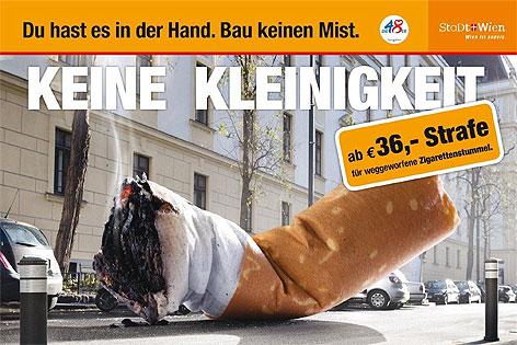 Neue Werbesujets für mehr Sauberkeit