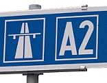 Autobahnschild von der A2