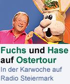 Fuchs und Hase sind wieder auf Ostertour