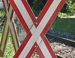 Andreaskreuz, Bahnkreuzung