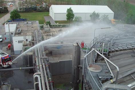 Brand der Gärgasanlage
