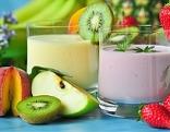 Trinkjoghurt mit Früchten