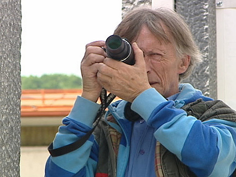 Gerhard Leeb beim Fotografieren