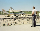 The Space Shuttle Columbia Lands at Kelly Lackland Air Force Base, San Antonio, Texas, March 1979