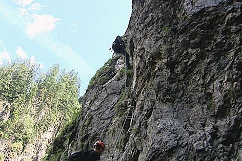 Klettersteig (in der Kitzlochklamm bei Taxenbach)