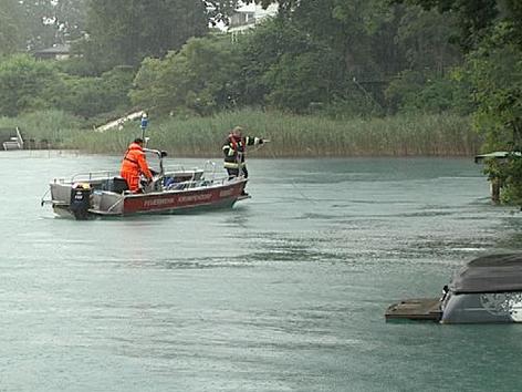 Suche nach Ertrunkenem via Boot