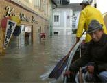 Hochwasser in Marbach