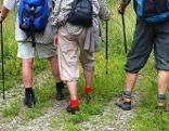 drei Wanderer von hinten
