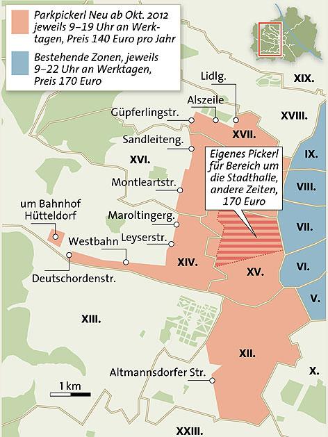 Parkpickerl Wien - Die neuen Zonen im Detail