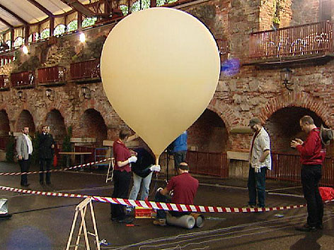 Start des Stratosphärenballon Kasematten