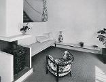 Wohnraum in Werkbund-Haus 45 von Jacques Groag, 1932