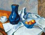 Stillleben mit blauer Vase, 1911, Privatbesitz