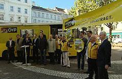 Protest der ÖVP gegen die Ausweitung des Parkpickerls