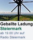 """Eine geballte Ladung Steiermark - """"Unser Steirerland"""", ab 19.00 Uhr auf Radio Steiermark"""