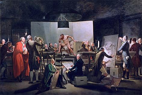 Martin Ferdinand Quadal, Der Aktsaal der Wiener Akademie im St.-Anna-Gebäude, 1787
