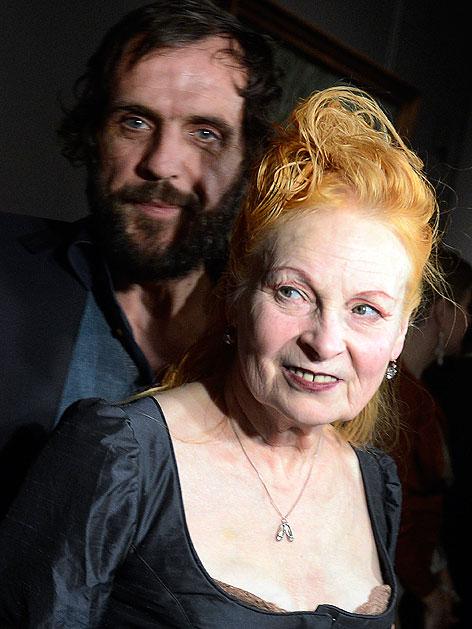 Modeschöpferin Vivienne Westwood und Ehemann Andreas Kronthaler im Kunsthistorischen Museum - westkro.5097712