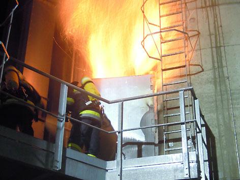 Großbrand Pelletswerks RZ