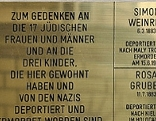 """Gedenktafel """"Steine der Erinnerung"""""""