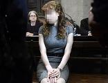 Estibaliz C. vor Beginn des zweiten Prozesstages im Mordfall um die Kellerleichen in Meidling