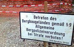 Stollen Singerberg Einbruch